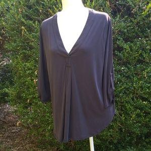 Lush dark grey tunic top